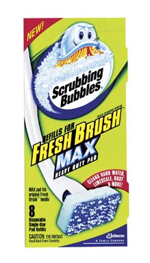Scrubbing Bubbles Heavy Duty Refills Fresh Brush Toilet Cleaning System 8 Count Refill (Package Image May Vary)