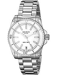 Gucci Dive Swiss Quartz Silver-Tone Womens Watch(Model:YA136402)
