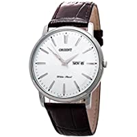 Orient Capital Quartz Analog Dress Watch with Day and Date Window UG1R003W