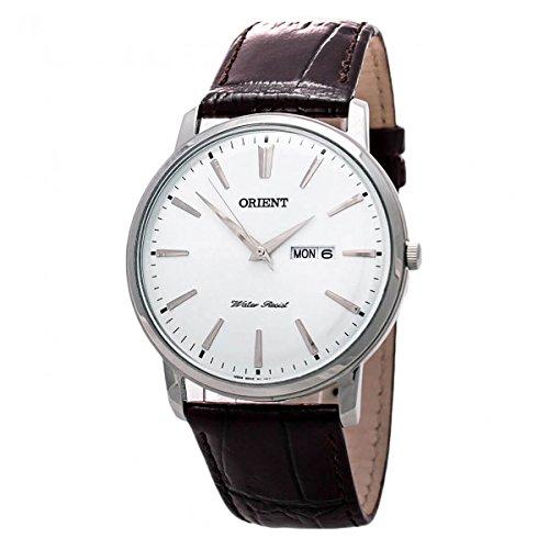 (Orient Capital Quartz Analog Dress Watch with Day and Date Window UG1R003W)