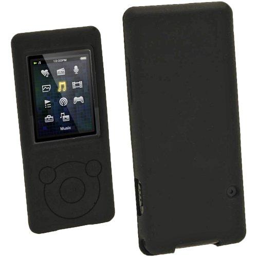 Walks Hydro (iGadgitz Black Silicone Skin Case Cover for Sony Walkman NWZ-E473 NWZ-E474 NWZ-E574 NWZ-E575 E Series Video MP3 Player 4gb 8gb 16gb + Screen Protector (NWZ-E474B, NWZ-E574B, NWZ-E575B, NWZ-E473K))