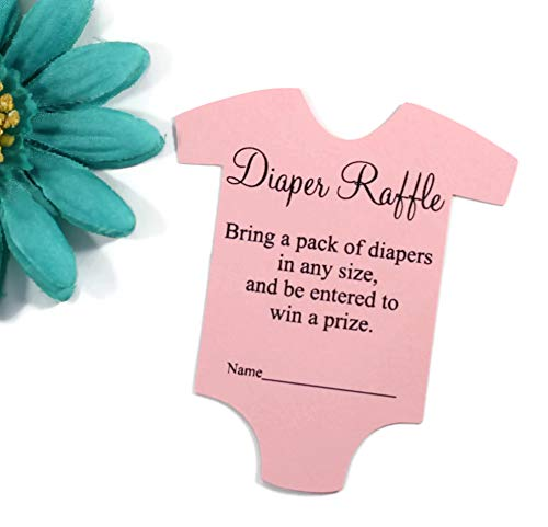 Baby Girl Diaper Raffle Tickets for Baby Shower Invitations (Set of (Handmade Baby Shower Invitation)