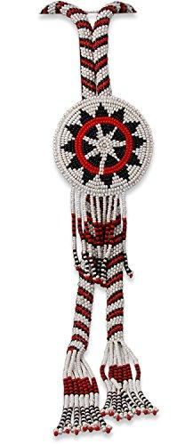 Navajo Vintage Wedding Basket Bead Bolo Tie Necklace by Mesa Verde Traders Inc.