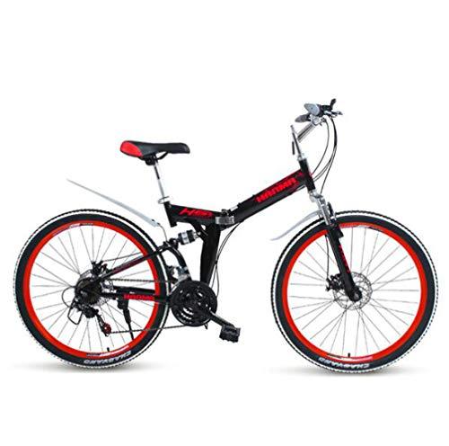DGPOAD Folding Mountain Bicycle Bike Adult Lightweight Unisex Men City Bike 27-inch Wheels Aluminium Frame Ladies…