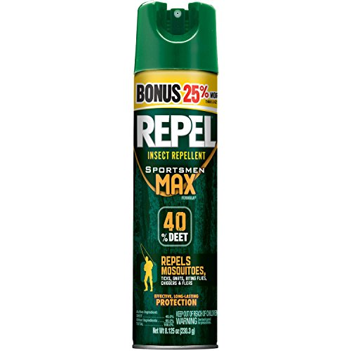 Repel Sportsmen Max Aerosol Insect Repellent Bonus, 40% Deet, 8.125 oz - 12 Count