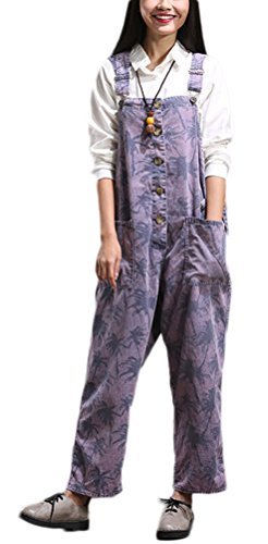 Soojun Pattern Suspender Trousers Overalls