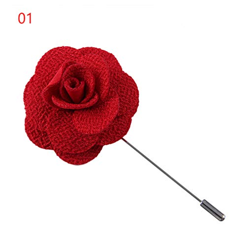 1Pcs Camellia Flower Lapel Pin Brooch Handmade Handmade Flower Brooch Pin For Men Fashion Wedding Boutonniere 1