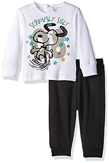 Peanuts Baby Boys' Snoopy Sweatshirt Set, White, 3/6 (B01JSILAVW)   Amazon price tracker / tracking, Amazon price history charts, Amazon price watches, Amazon price drop alerts