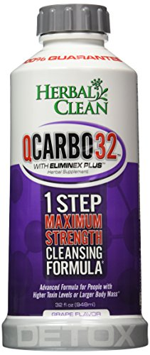 Q Carbo 32 Liquid Grape Herbal Clean Detox 32 oz Liquid