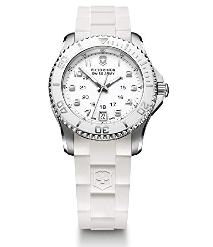 Victorinox Maverick GS Mother of Pearl Dial Silicone Strap Ladies Watch 241492XG (Renewed) ()