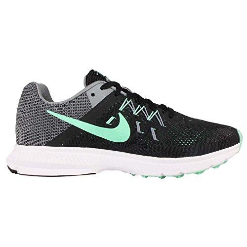 Nike Wmns zoom Zapatos WinfloSports de formación BLACK/GREEN GLOW-COOL GREY-WHITE