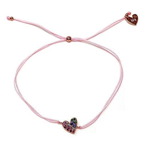 6e953fe6466c Pulsera plata Agatha Ruiz de la Prada cordón hilo rosa 23cm.  AB5679 ...