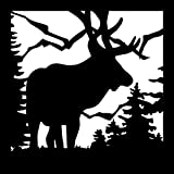 AJD Designs Balcony Panel 24 x 24 Elk Mountains Metal For Sale