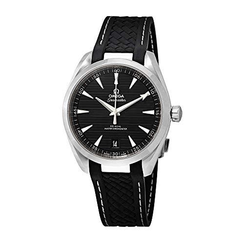 Omega Seamaster Aqua Terra Black Dial Automatic Mens Rubber Watch 220.12.41.21.01.001