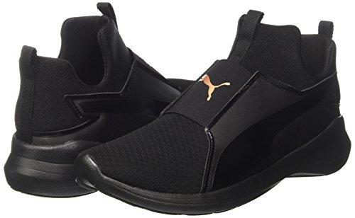Zapatillas Mujer puma Para Black Negro Black Puma Ep Mid Wns puma Rebel xqInFg
