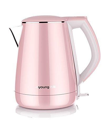 Joyoung K15-F026M Princess Series 1.5 Liters Stainless Electric Kettle, Pink