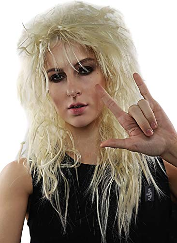 80s Male Hair (80s Rocker Wig Blonde Rockstar Men Costume Wigs Heavy Metal Big Hair Band Rock Star)