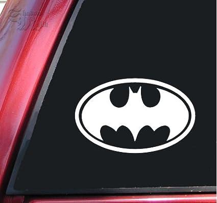 Amazon Batman Bat Symbol Vinyl Decal Sticker 6 X 38 White