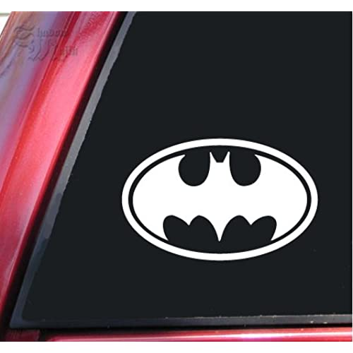 Batman bat symbol vinyl decal sticker 6 x 3 8 white