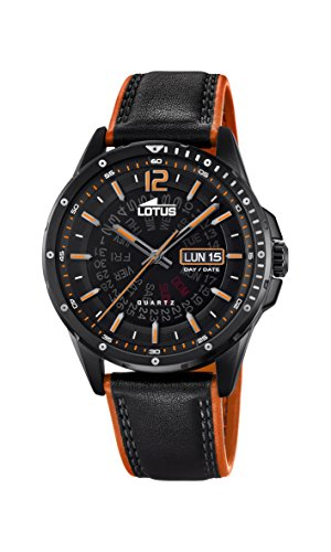 Lotus Watches Reloj Análogo clásico para Hombre de Cuarzo con Correa en Cuero 18525/1: Amazon.es: Relojes