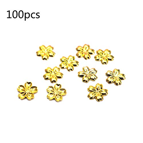 SimpleLif 100Pieces Cherry Flower Frame UV Resin Charm Filling Bezel Setting Cabochon Fillers ()