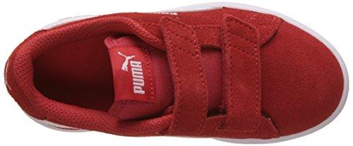 Puma Smash V2 SD V PS, Zapatillas Unisex Niños Rojo (High Risk Red-puma White)