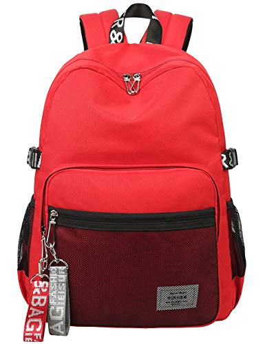 For Travel Girls Casual Bag School Fashion Daypack Bookbag Laptop Backpack Lightweight El Outdoor Teen Fmly Red Cute Shoulder gY76vIbfy