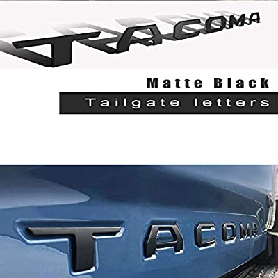 Cootack 3D Raised Tailgate Insert Letters Emblem for Toyota Tacoma 2016-2020 (Matte Black): Arts, Crafts & Sewing