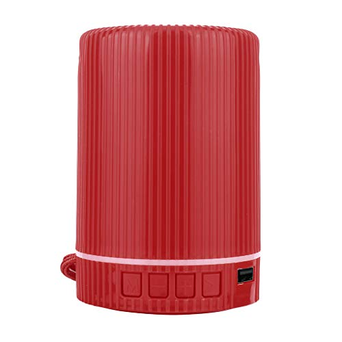 Wusad HiFi Portable Wireless Bluetooth Speaker Stereo Sound Bar TF Subwoofer Column Speakers for Family Party Outdoors Sports (Red)
