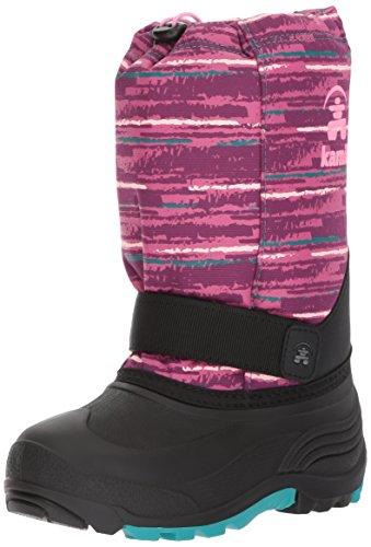 Kamik Children's Snow Boots - Kamik Girls' Rocket2 Snow Boot, Magenta/Teal, 13 Medium US Little Kid