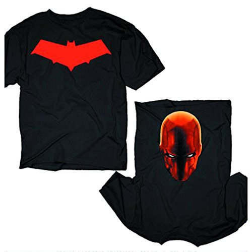 Batman Red Hood Flip-Up Costume T-Shirt-Small