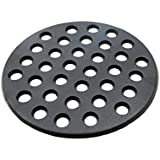 BBQ High Heat Cast Iron Charcoal Fire Grate Fits for Large big green egg fire grate and kamado joe grill parts charcoal grate replacement accessories-9'' LFGC