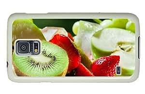 Hipster Samsung S5 thinnest case Kiwi Strawberries PC White for Samsung S5