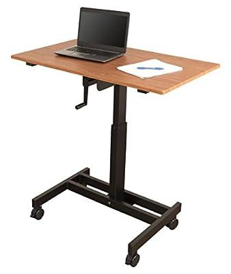 Single Column Crank Adjustable Stand Up Desk