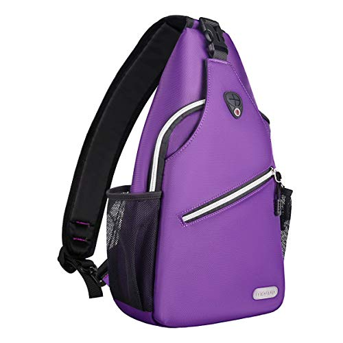 MOSISO Sling Backpack, Multipurpose Crossbody Shoulder Bag Travel Hiking Daypack, Ultra Violet