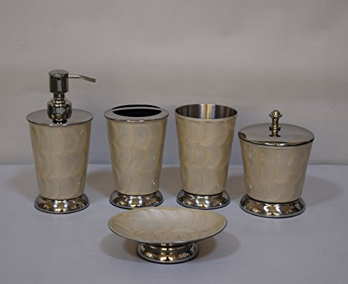 5-pc-hand-painted-with-ivory-lacquer-stainless-steel-bath-accessory-set