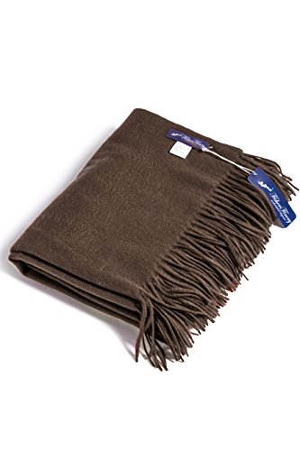Fishers Finery 100% Pure Cashmere Fringe Throw Blanket; Pill Resistant - Resistant Pill