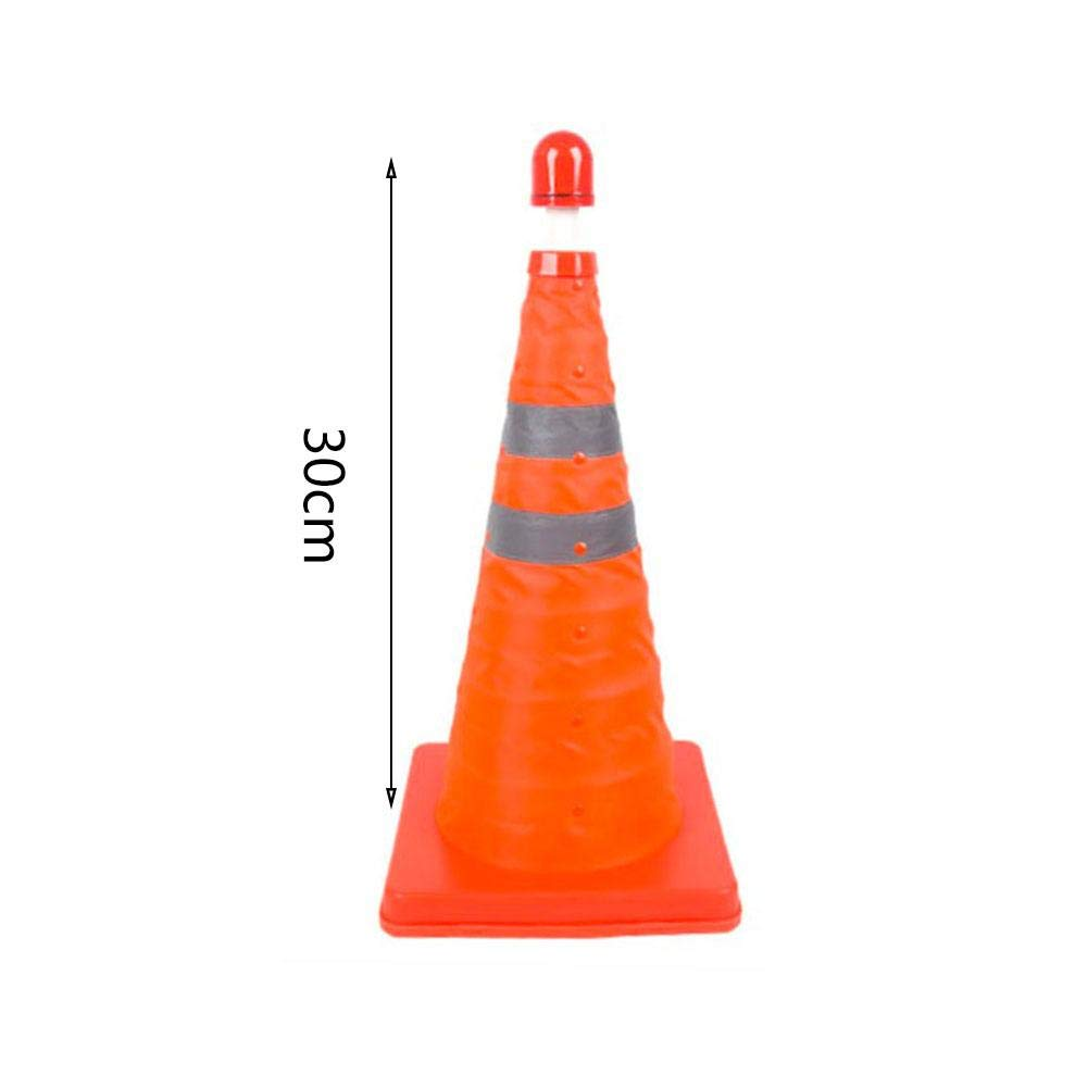Biback Collapsible Safety Emergency Traffic Cone with Light,Reflective Safety Cone for Work Area Protection, Emergency Roadside Barrier