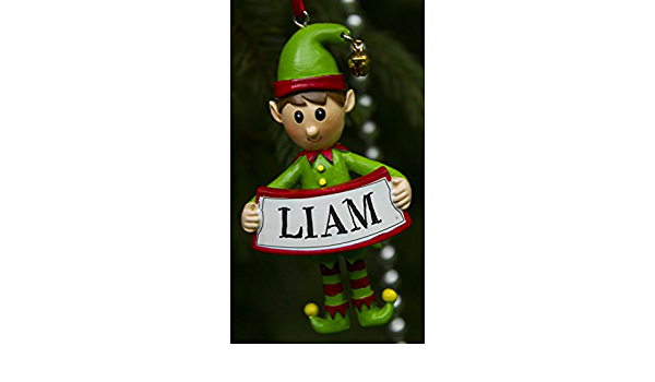 One for The Whole Family Boxer Gifts XEF515 James Personalised Elf Christmas Tree Decoration Multi-Colour 8 x 4.5 x 2 cm Ceramic Xmas Bauble Ornament Gift