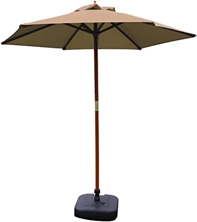 ZXL Sombrillas Sombrilla de Patio de 7 pies Sombrilla de Mesa de jardín al Aire Libre, Sombrilla de Piscina de Camping con Soporte de Madera Maciza Sombrilla de Exterior Sombrilla portátil: Amazon.es: