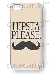 CASE CARTEL Apple iPhone 5 5G 5S Hipsta Please Retro Vintage WHITE Sides Slim HARD Case Skin Cover Protector Accessory Vintage Retro Unique AT&T Sprint Verizon Virgin Mobile