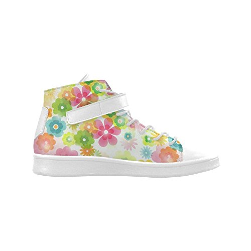 D-story Round Toe High Top Zapatos Flowers In A Dream Mujeres Sneakers