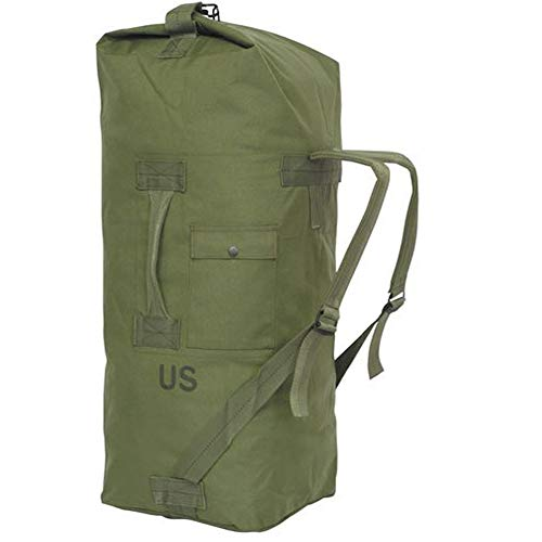 GI US Army Genuine Military Issue Duffle Bag Cordura Nylon 2 Carrying Straps Backpack Sea Bag Bug Out Bag Olive Drab (Oliver Drab)
