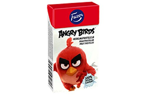 Angry Birds Gummies (4 Boxes x 40g. of Fazer Angry Birds - 100% Natural Flavors - Finnish - Sugar - Fruity - Pastilles - Drops - Dragees - Candies - Sweets)