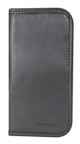 Travelon Luggage Safe Id Checkbook Wallet, Off Black, One Size