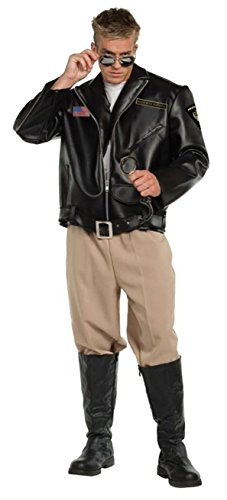 Patrol Officer Costumes (UHC Men's Highway Patrol Police Officer Outfit Adult Halloween Fancy Costume, OS (42-46))