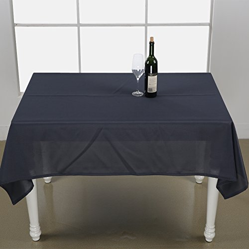 Deconovo Solid Oxford Decorative Rectangle/Oblong Water Resistant Tablecloth For Picnic, 60x102-inch, Dark Grey (Rectangle Table Dolly)