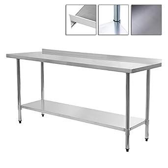 Prep de acero inoxidable mesa de trabajo 24