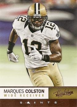 0e8f2bd46 Amazon.com  Marques Colston Football Card (New Orleans Saints) 2012 Panini  Absolute  65  Sports Collectibles