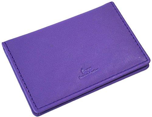 (Royce Leather Men's Mini ID Case, Purple)